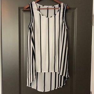 Blu Planet Women's Dress Shirt Sheer Size L